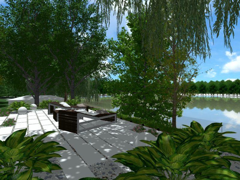 Punkt widokowo – wypoczynkowy nad jeziorem