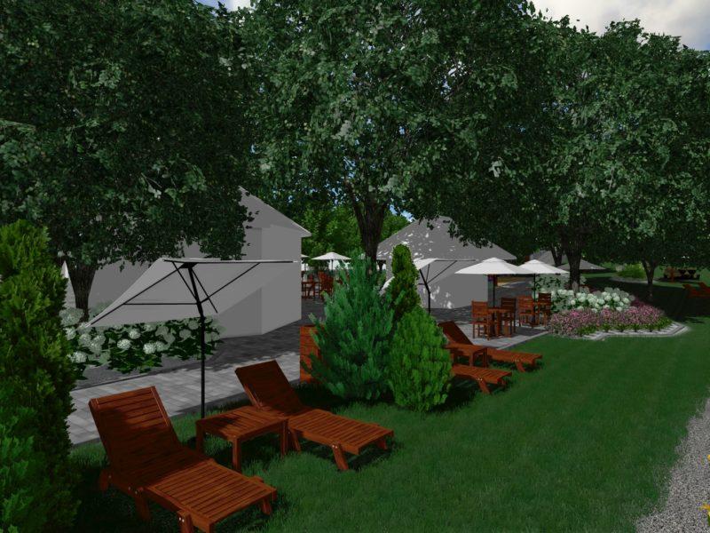 Zagospodarowanie terenu wokół Restauracji – Hotelu Podjadek