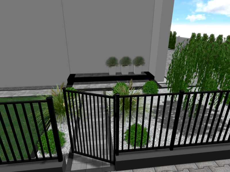 Projekt nawierzchni przy domu jednorodzinnym w Odolanowie