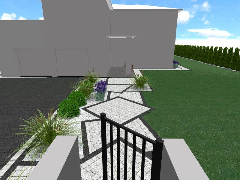 Projekt nawierzchni w geometrycznej formie