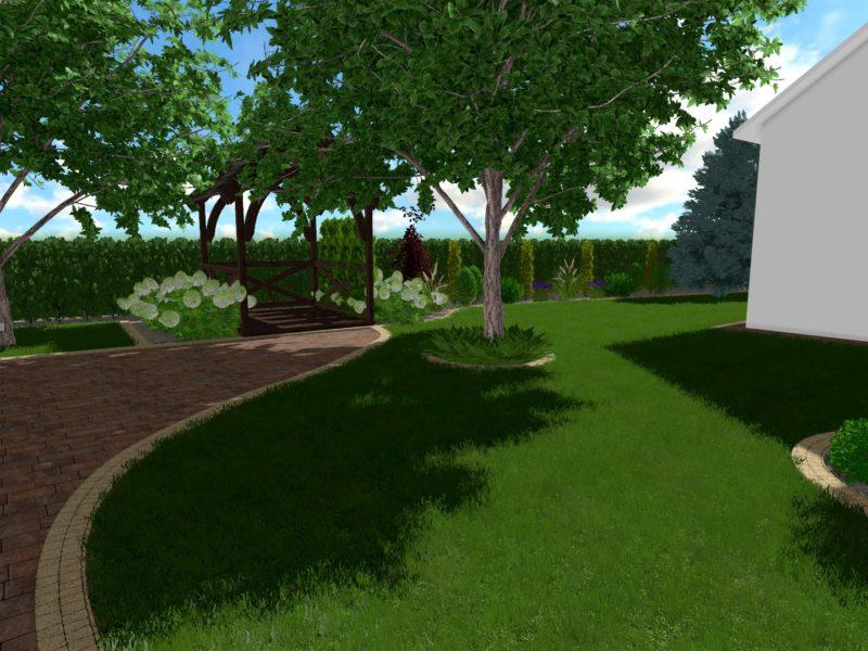 Urokliwy ogród w Przedborowie