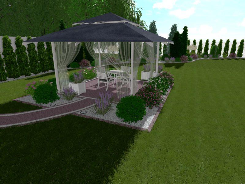 Romantyczny ogród w centrum miasta