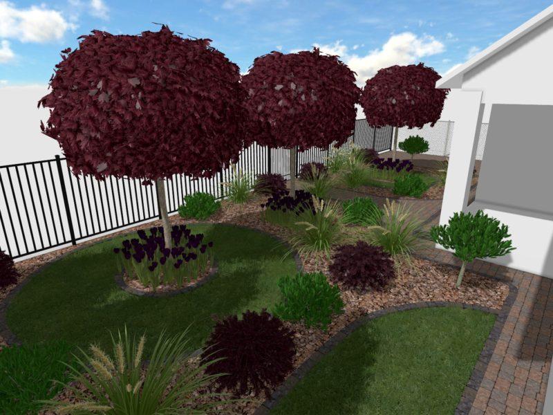 Zagospodarowanie frontowej części ogrodu