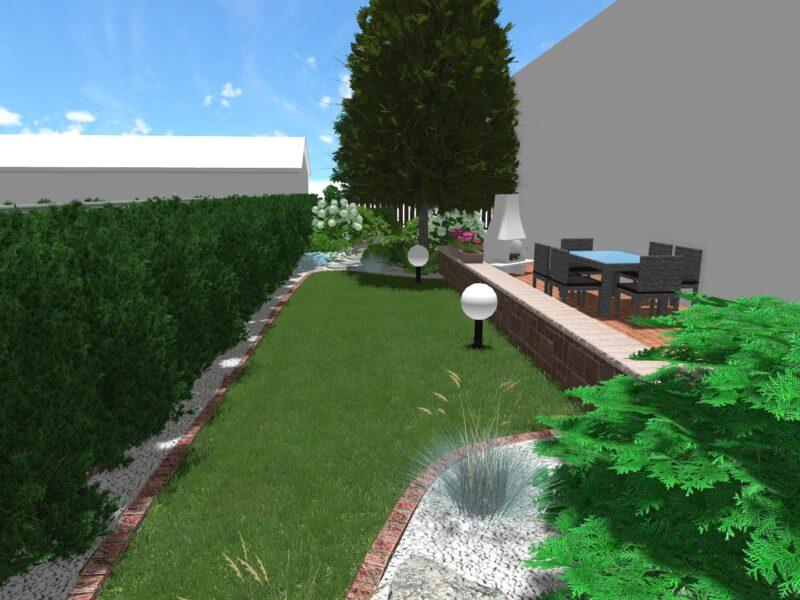 Kameralny ogród w centrum miasta