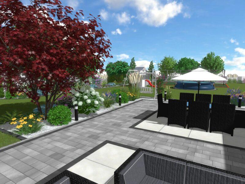 Nowoczesny ogród w stylu angielskim